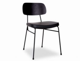 Archie Chair - Black - Black Pad