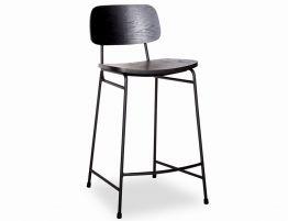 Archie Stool - Black - Black Seat