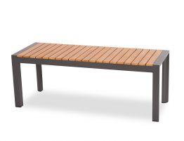 Vydel Bench Seat - Outdoor - 120cm - Teak - Charcoal