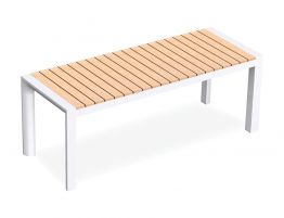 Vydel Bench Seat - Outdoor - 120cm - Teak - White