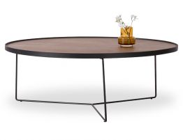 Alora Coffee Table -Black - Walnut - Large