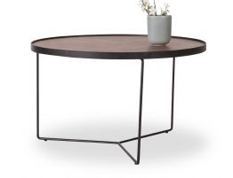 Alora Coffee Table -Black - Walnut - Medium