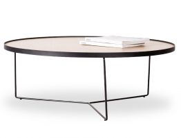 Alora Coffee Table - Black - Oak - Large