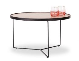 Alora Coffee Table - Black - Oak - Medium