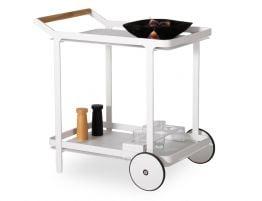 Imola Outdoor Bar Cart - White