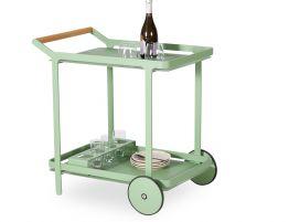 Imola Outdoor Bar Cart - Sage Green