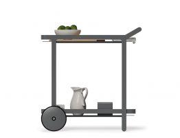 Imola Outdoor Bar Cart - Charcoal