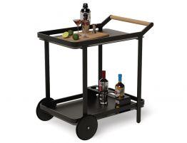 Imola Outdoor Bar Cart - Black