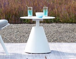 Corvo Outdoor Side Table - White