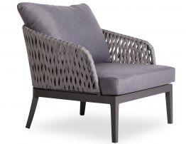 Alma Lounge Chair - Outdoor - Single - Charcoal - Dark Grey Cushion