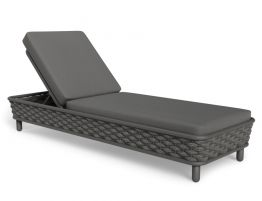 Siano Sun Lounge - Outdoor - Charcoal - Dark Grey Cushion
