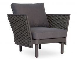 Siano Lounge Chair - Outdoor - Charcoal - Dark Grey Cushion
