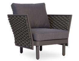 Siano Lounge Chair - Outdoor - Charcoal - Dark Grey Cushion