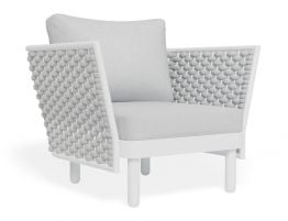 Siano Lounge Chair - Outdoor - White - Light Grey Cushion
