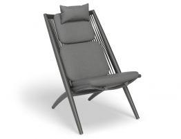 Minori Lounge Chair - Outdoor - Charcoal - Dark Grey Cushion
