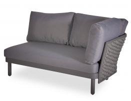 Siano Modular Right Arm 2 Seater - Outdoor - Charcoal - Dark Grey Cushion
