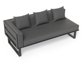Vivara Sofa - Charcoal - Modular Section A - Left Arm