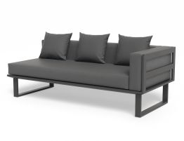 Vivara Sofa - Charcoal - Modular Section B - Right Arm