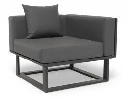 Vivara Sofa - Charcoal - Modular Section D - Corner