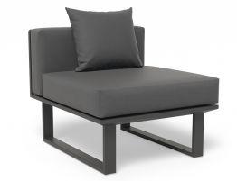 Vivara Sofa - Charcoal - Modular Section E - No Arm