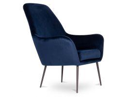Soho Lounge Chair - Navy Blue Velvet