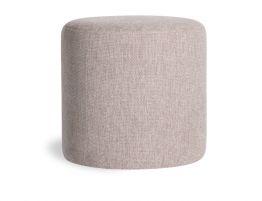 Tito Ottoman - Light Grey Fabric