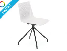 Flint Dining Chair - Black Powdercoated 4 Way Legs - Indent
