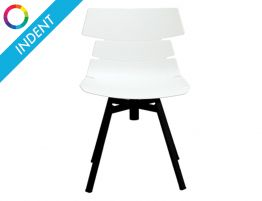 Feather Chair - Black - Black Shell - Swivel -Indent