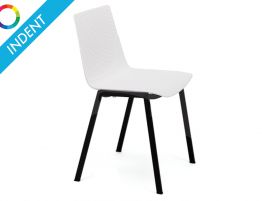 Flint Dining Chair - Black Powdercoated Legs - Indent