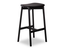 Andi Stool - Black - Backless with Pad