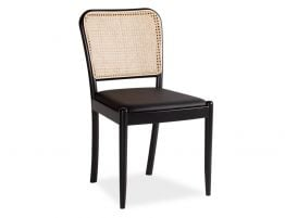 Vika Chair in Black with Cane Back