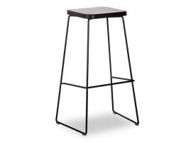 Hugo Stool - Black - Black - Square