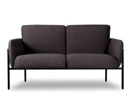 Charlie 2 Seat Sofa Charcoal