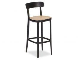 Liana Stool - Black - Cane Seat