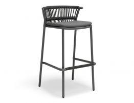 Minori Stool - Charcoal - Dark Grey Cushion
