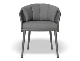 Avila Dining Chair - Charcoal - Dark Grey Cushion