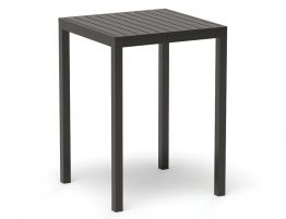 Halki Table - Outdoor - High Bar - Matt Charcoal 77 x 77cm
