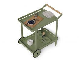 Imola Outdoor Bar Cart - Eucalyptus Green