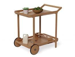 Imola Outdoor Bar Cart - Terracotta