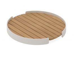 Fino Outdoor Tray Round - White