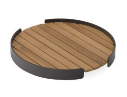 Fino Outdoor Tray Round -Charcoal