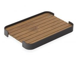 Fino Outdoor Tray Rectangle Charcoal