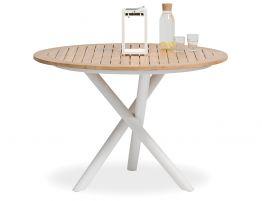 Sapporo Outdoor Round Table - White 110cm