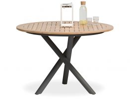 Sapporo Outdoor Round Table - Charcoal 110cm