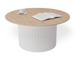 Mimi Coffee Table - White - Natural