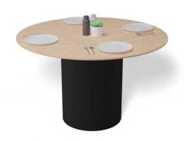 Mimi Dining Table - Black - Natural - 120cm