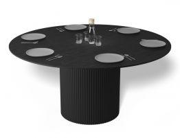 Mimi Dining Table - Black - Black - 155cm