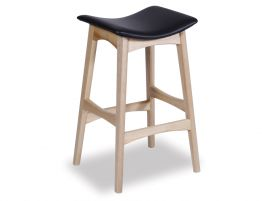 Nordic Stool - Natural - Black Leather