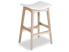 Nordic Stool - Natural - White Leather