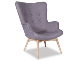 Basalt Lounge Chair - Grey Fabric